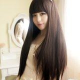 Tóc giả nữ mái ngan dài